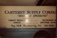 carteret supply company sign