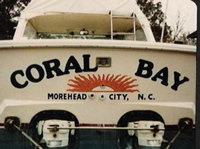 coral bay boat lettering