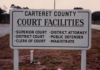 carteret county court facilities sign