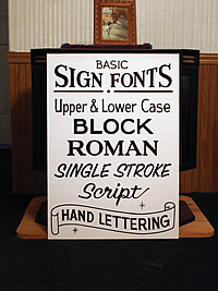 basic sign fonts