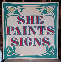 she paints signs 2