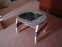 painted wooden stool 2