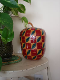 painted wooden apple